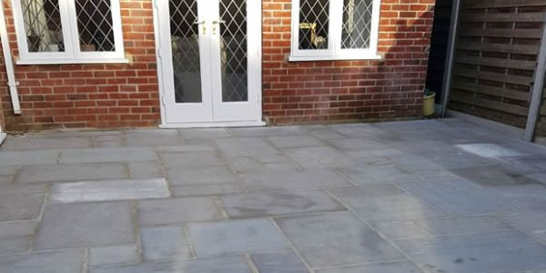 new patio laid Broadstone