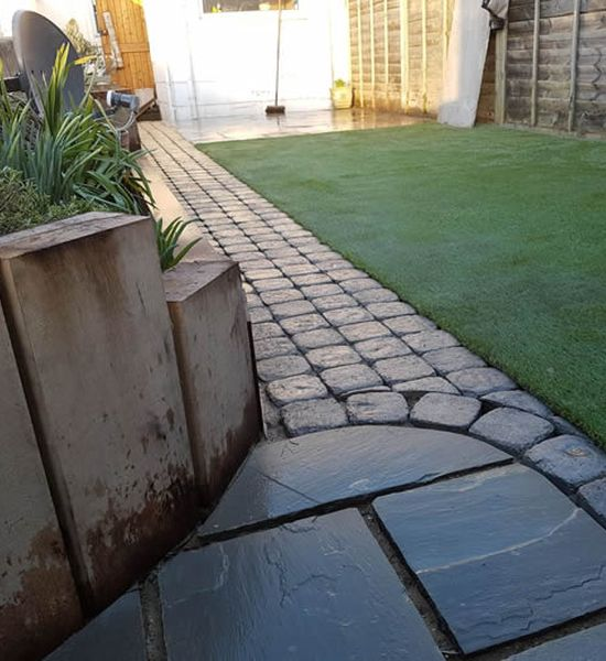 concrete imprint patio installation